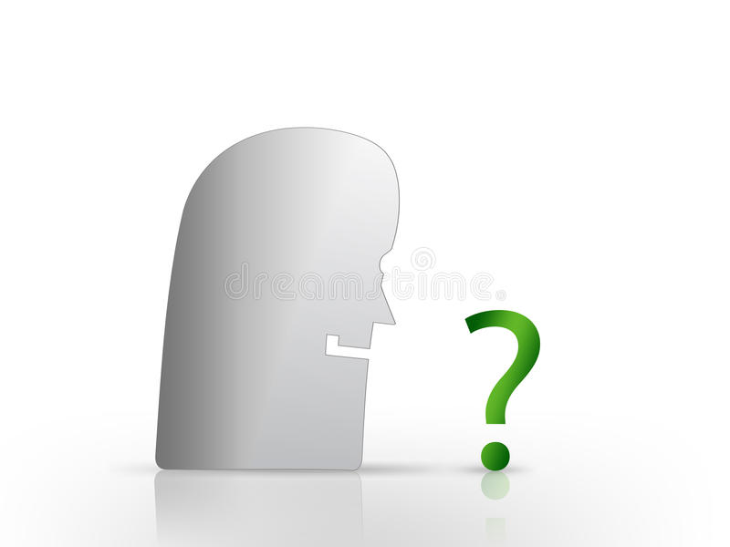 Download Face Looking At Question Mark Stock Illustration - Image: 22351484