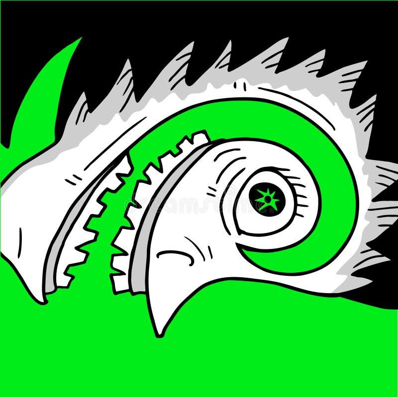 Download Face louca ilustração do vetor. Ilustração de raro, caráter - 80102661