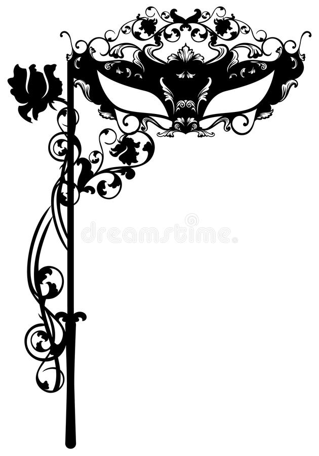 Download Face mask stock vector. Image of illustration, decorative - 42188792