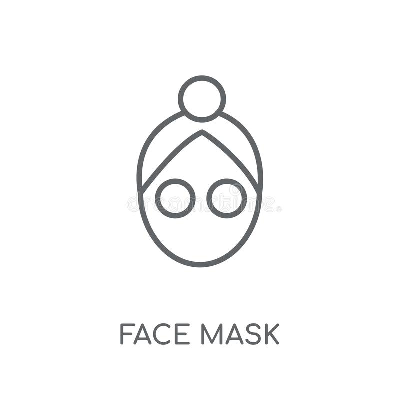 Face mask linear icon. Modern outline Face mask logo concept on royalty free illustration
