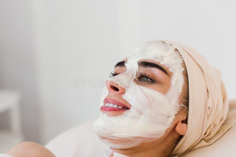 Face mask, spa beauty treatment. stock photography