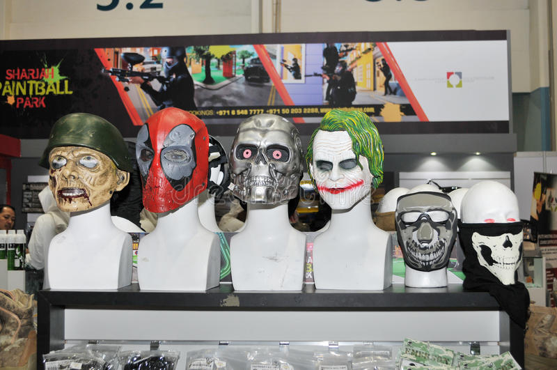 Face Masks at Abu Dhabi International Hunting and Equestrian Exhibition 2013