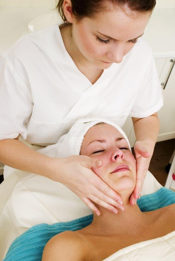 Face Massage at Spa stock photos