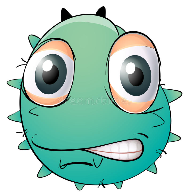 A Face Of A Monster Royalty Free Stock Images