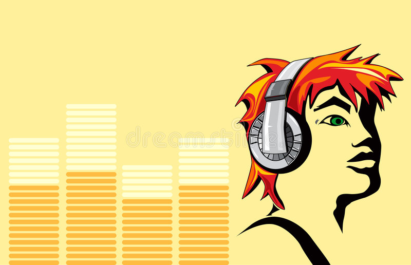 The face of music royalty free stock images