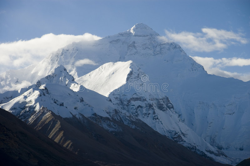 Face norte Mt Everest foto de stock