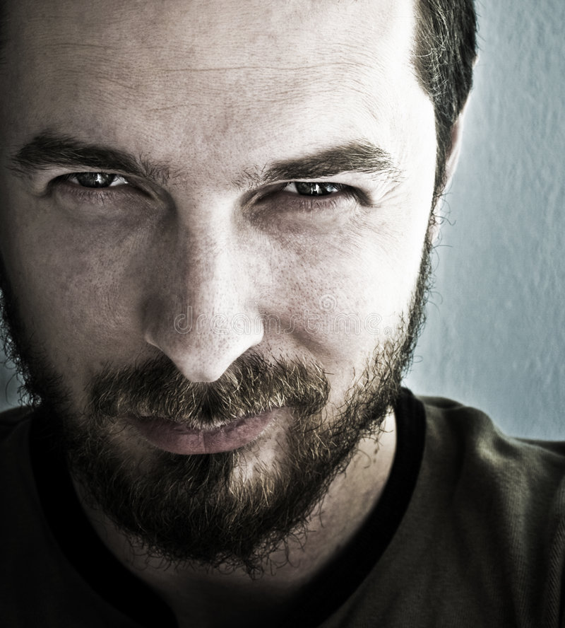 Free Face Of Looking Man With Malicious Smile Royalty Free Stock Images - 5719419