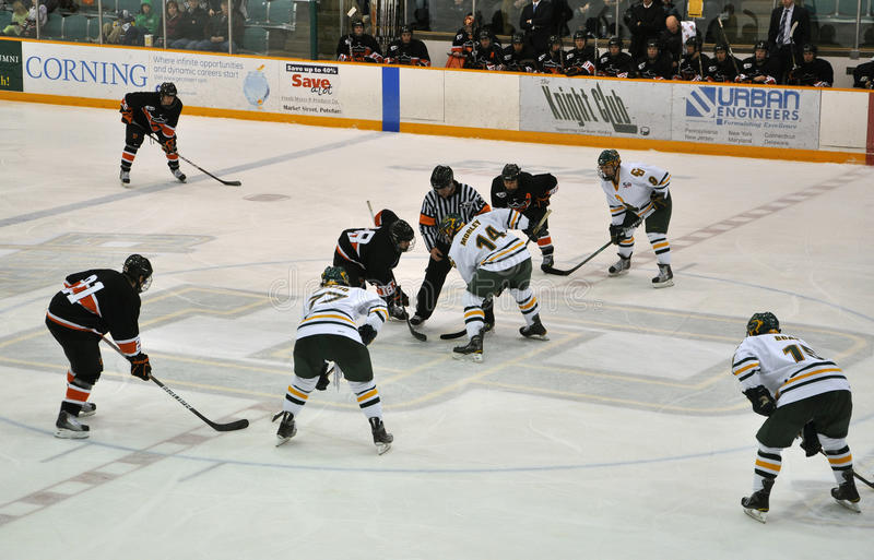 Download Face Off In Ice Hockey Game Editorial Photography - Image: 18129172
