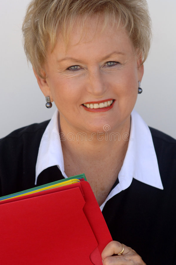 Face of older business woman stock photo