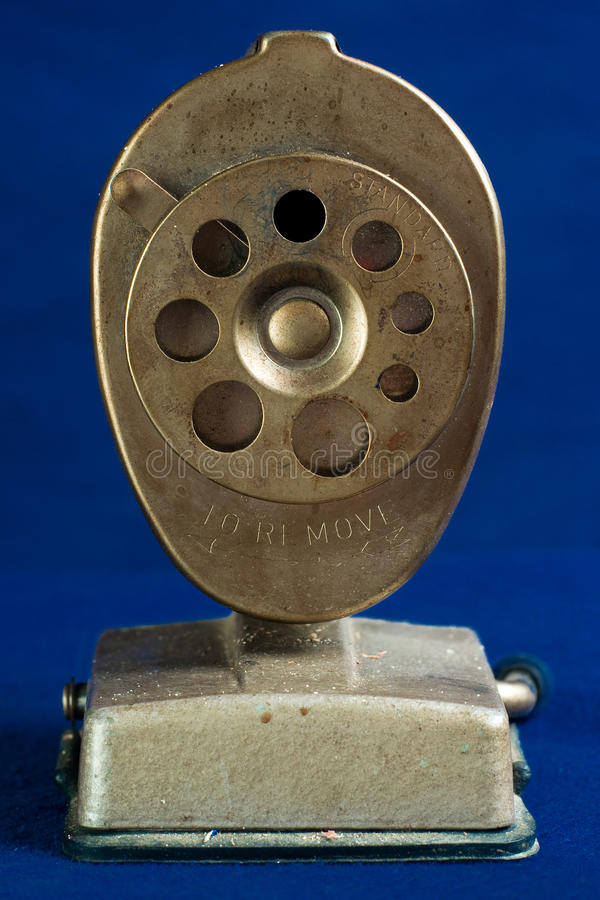 Free Face-On View Of Antique Pencil Sharpener Stock Photos - 17915163