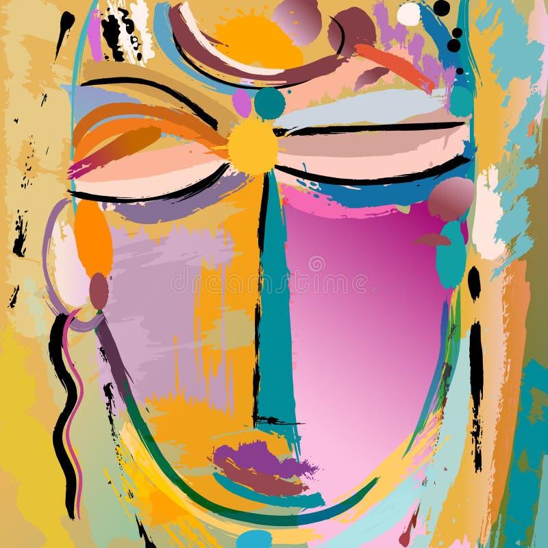 Face ou máscara ilustração do vetor