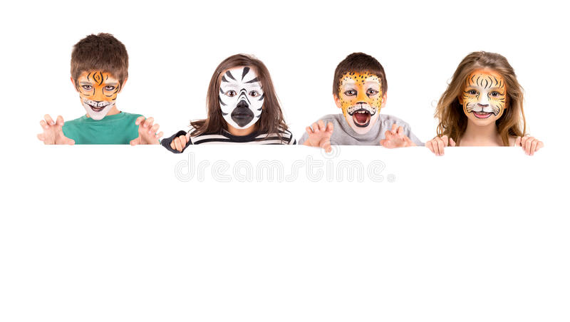 Face-paint royalty free stock images