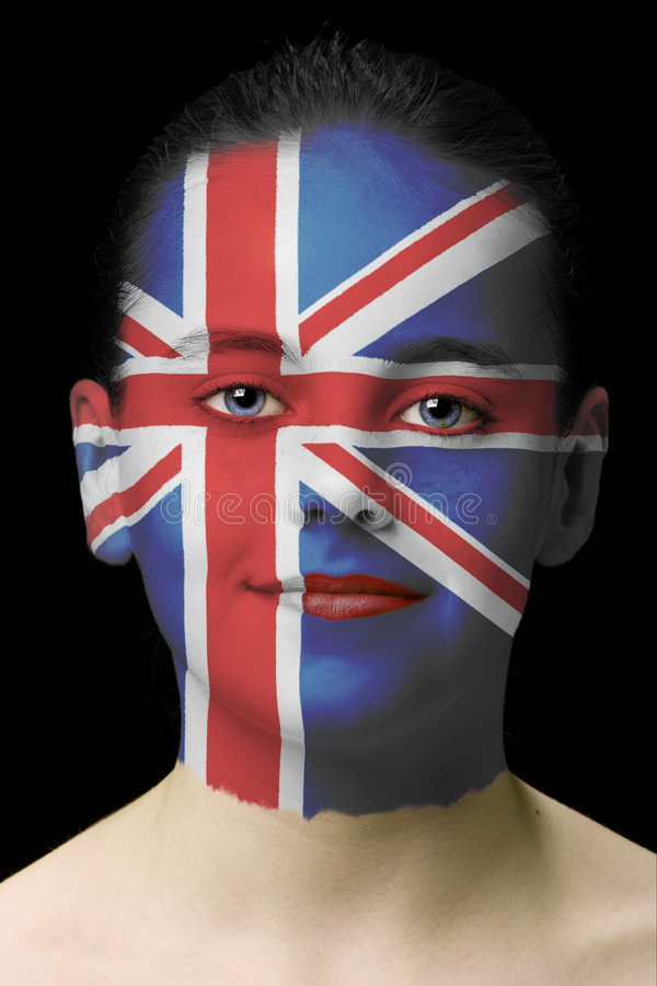 Face paint - United Kingdom royalty free stock photography