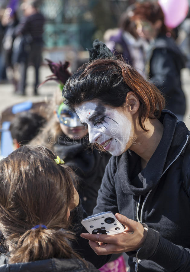 Download Face Painter editorial image. Image of european, up, paint - 28817335