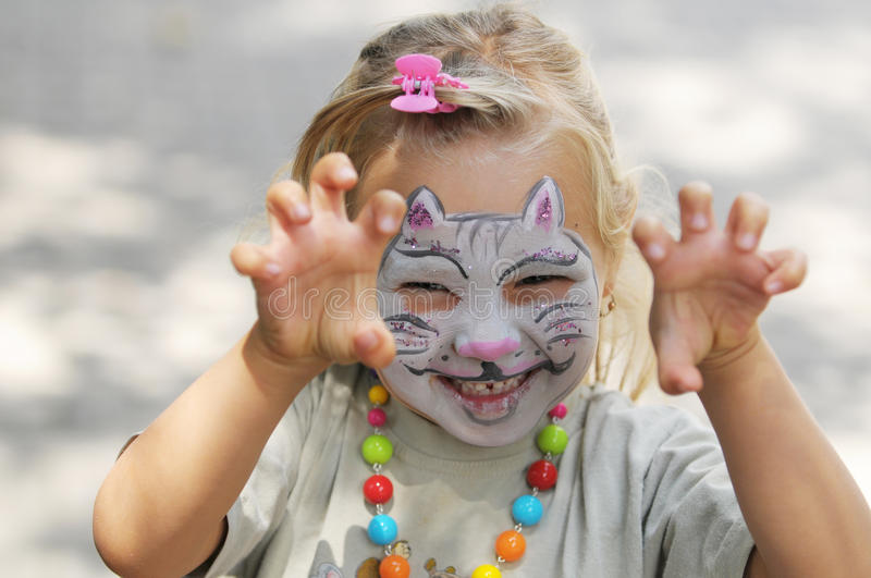 Face painting royalty free stock photo
