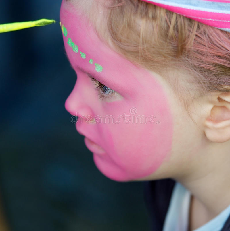 Download Face painting stock photo. Image of caucasian, entertainment - 25397274