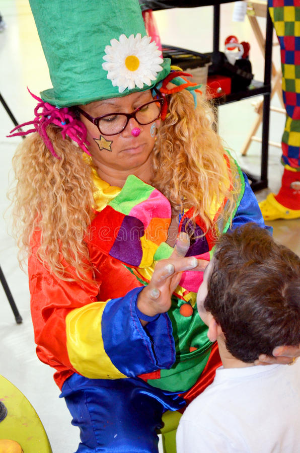 Download Face painting editorial stock image. Image of games, clown - 29259029