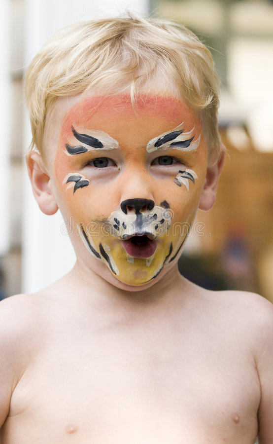 Download Face painting stock image. Image of roar, person, costume - 6057291