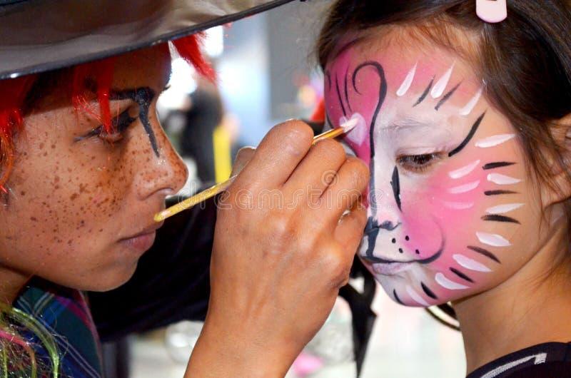 Face painting mega fun day stock photos