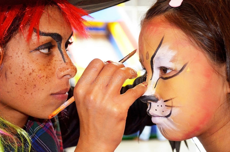 Download Face painting mega fun day editorial stock photo. Image of artist - 29620313