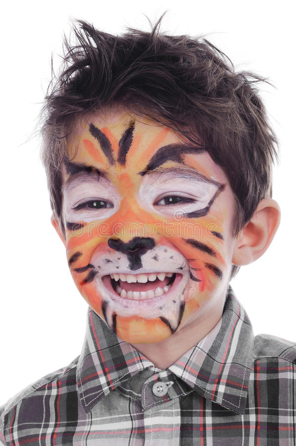 Free Face Painting Of Tiger Royalty Free Stock Images - 30689099