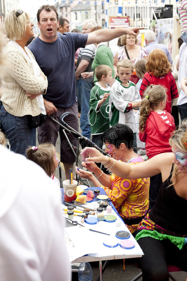 Download Face Painting at Puck Fair editorial stock image. Image of face - 10501414
