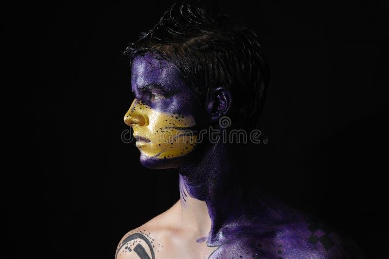 Face pintada imagens de stock