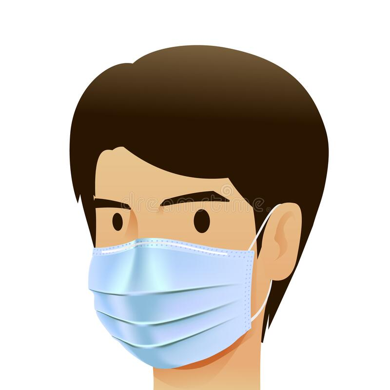 Free Face Pollution Mask, For Medical And Dust Pm2.5, Danger Protection Or Health Disease Cough Breath Protective Devices Allergy For H Stock Image - 175919561