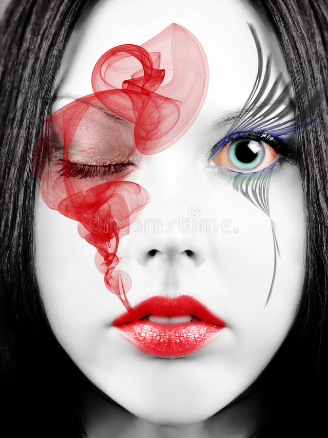 face porcelain στοκ εικόνα με δικαίωμα ελεύθερης χρήσης