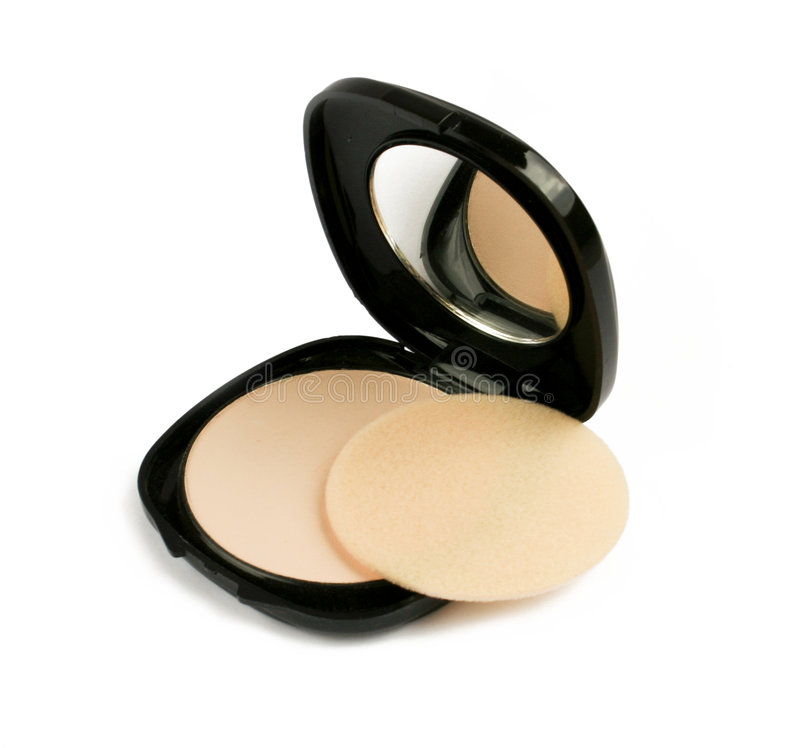Download Face powder with mirror stock photo. Image of objects - 8738044