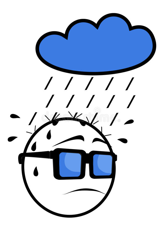 Download Face rain stock vector. Image of design, head, doll, comic - 24010340