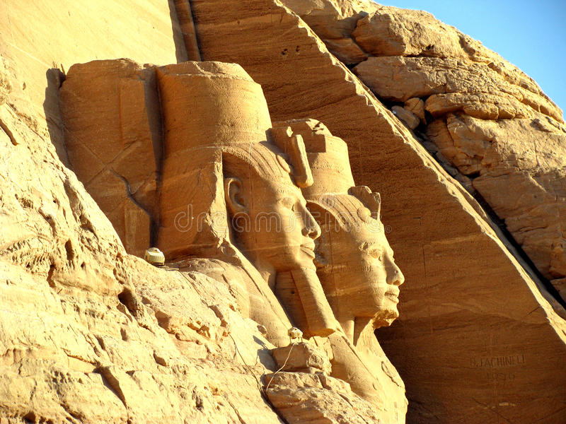 Download Face Rameses II stock photo. Image of simbel, large, grave - 28157902