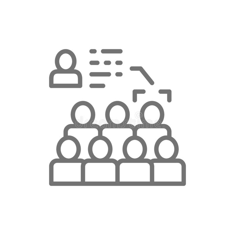 Face recognition in the crowd, face identification line icon. Vector face recognition in the crowd, face identification line icon. Symbol and sign illustration vector illustration