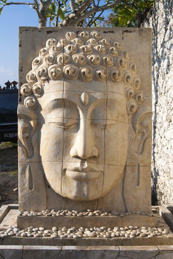 Face relief of Buddha stock photos
