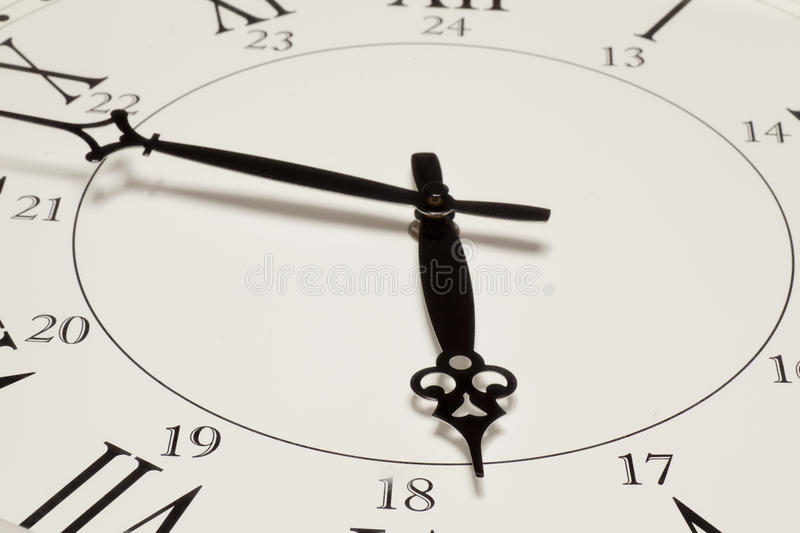 Download Face of retro clock stock photo. Image of roman, hands - 24979212