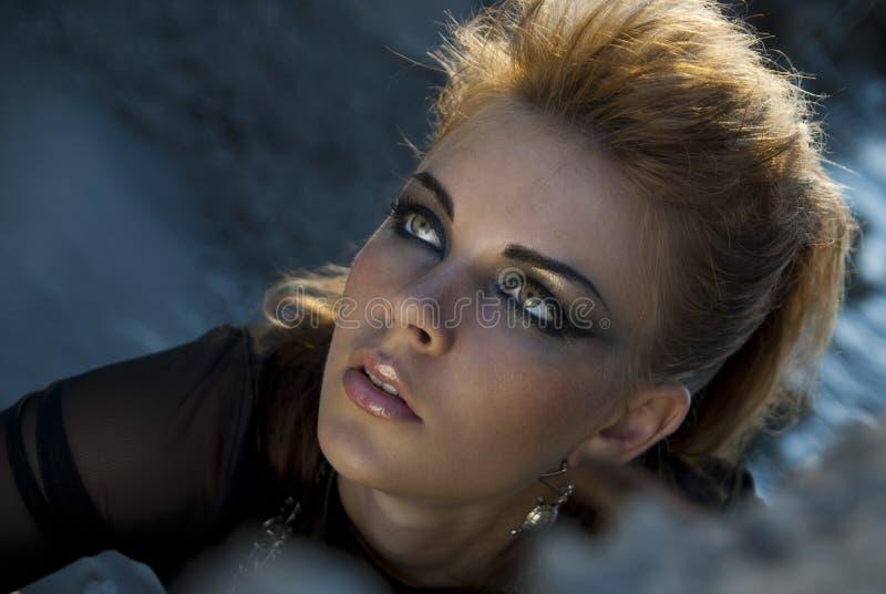 Face rock style girl royalty free stock photos