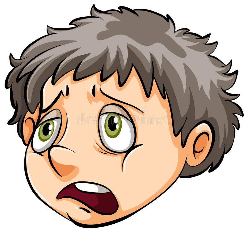 A face of a sad boy stock vector. Illustration of drawing ...