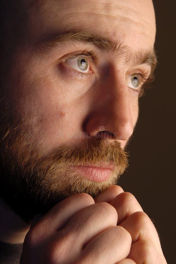 Face of sad man stock images