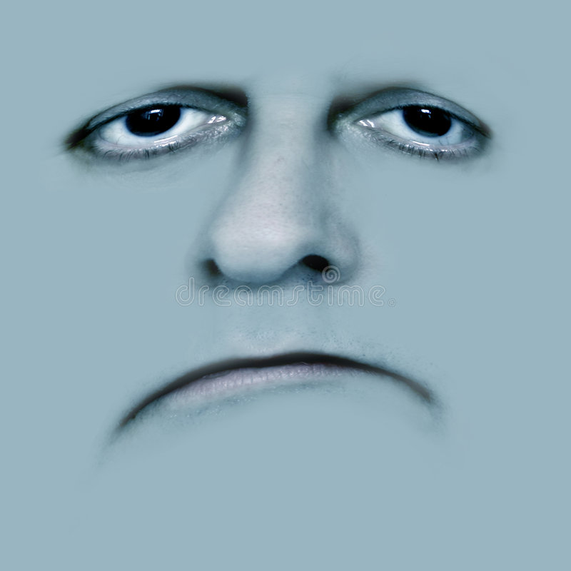 Face sad and poorly stock photography