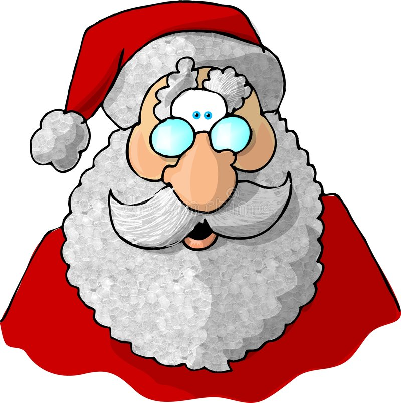 Face of Santa 1. This illustration that I created depicts the face of Santa Claus