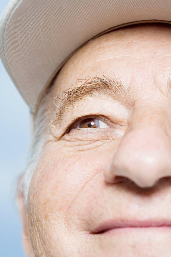 Face of a senior man stock photography