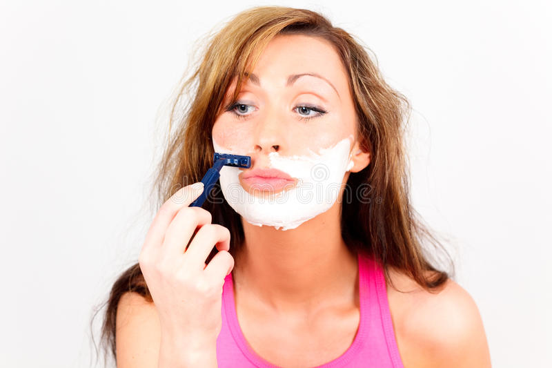 Download Face Shave Depilation Woman Stock Image - Image: 11900635