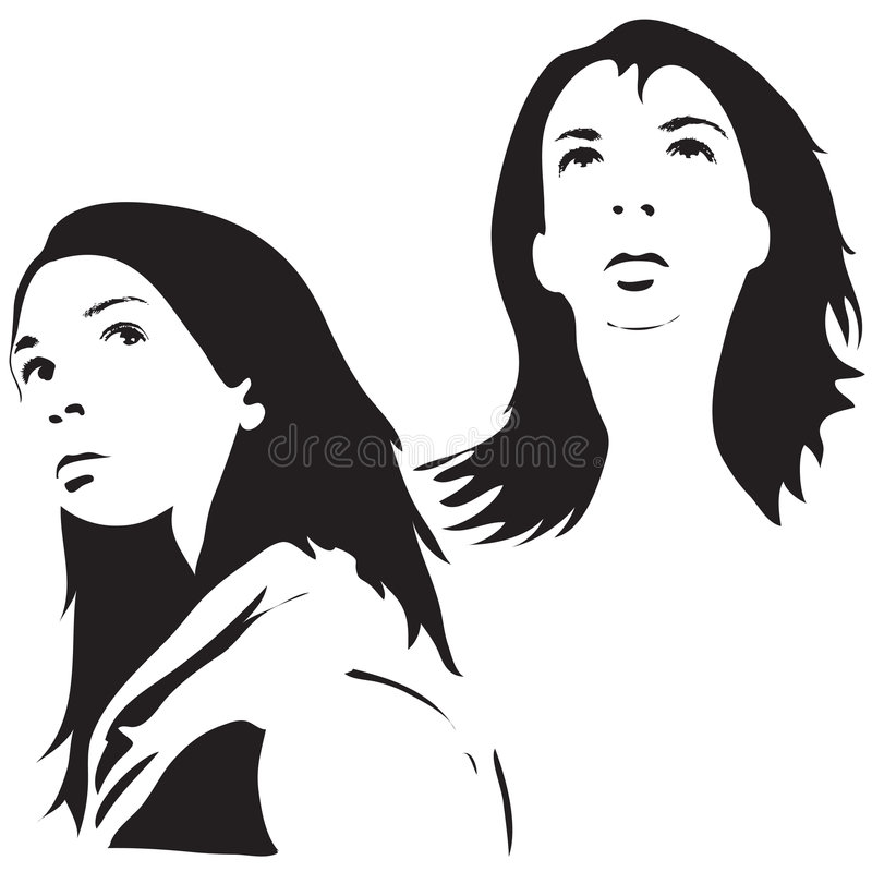 Face Silhouettes Royalty Free Stock Image