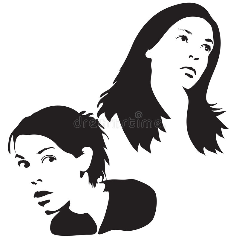 Download Face Silhouettes Royalty Free Stock Photography - Image: 2301527