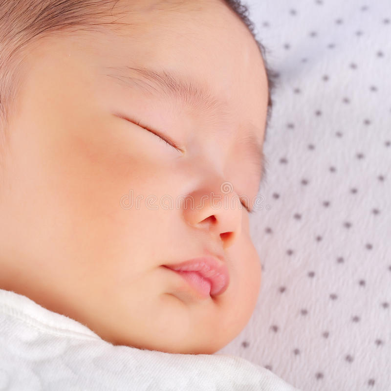 Face of sleeping baby