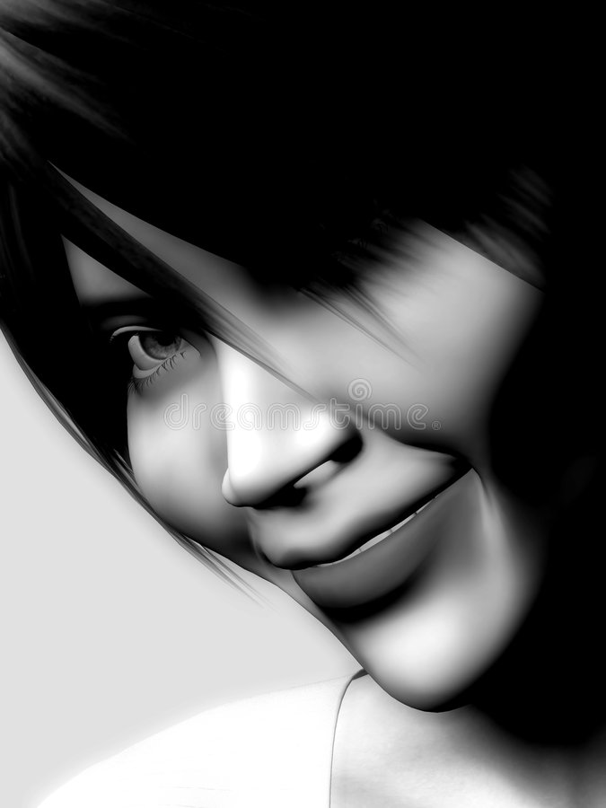 Download The Face Of A Smiling Woman Stock Illustration - Illustration: 4121407