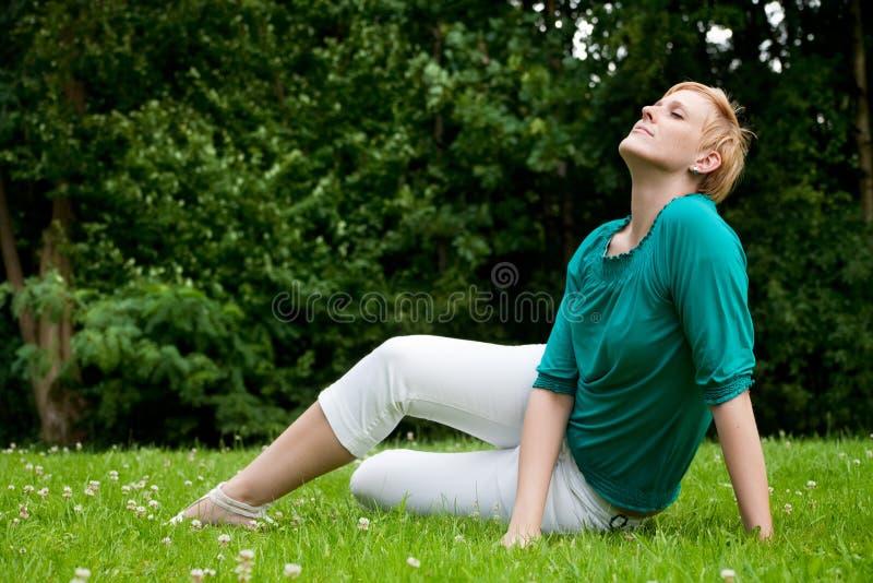 Face Sunbathing Royalty Free Stock Photos