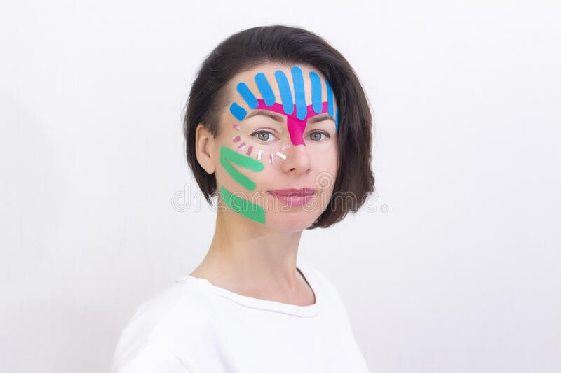 Face Taping Stock Photo Image Of Applique Aging Close 185394004