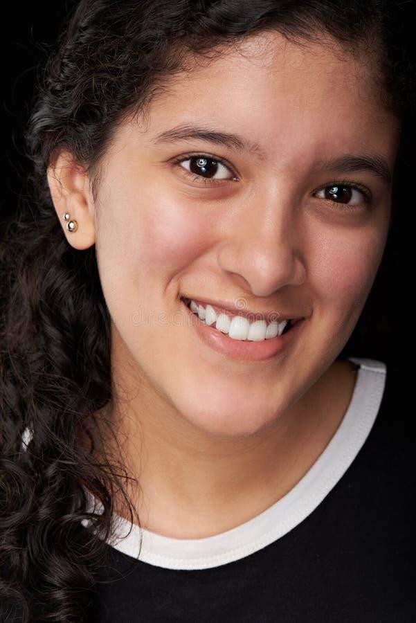 Face of teenager girl stock photos