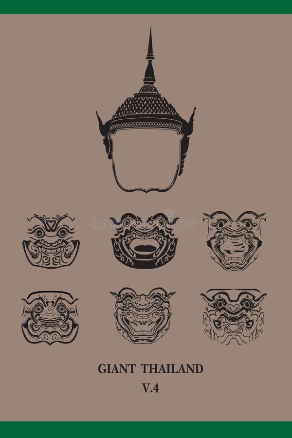 Face of thai giant vector illustration